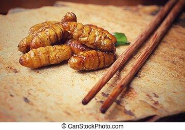 Silkworm pupae