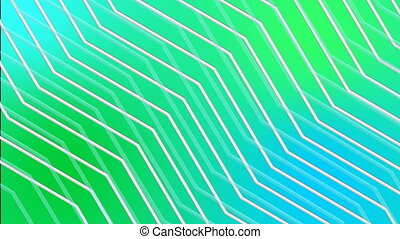 Silky smooth colorful dynamic zig-zag line animation background in full HD resolution.