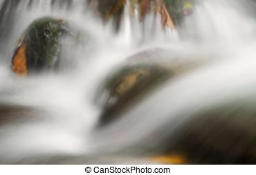 Silky water landscape
