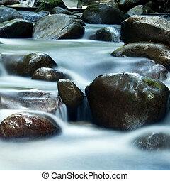 Silky water. - Zen water flowing in 25 seconds long...