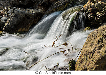 Waterfall on a small river
