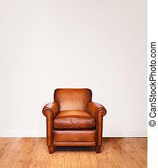 sillón, cuero