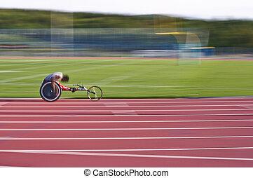 sillón ruedas que compite