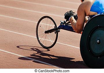 sillón ruedas que compite, competición