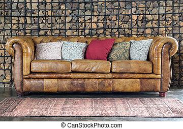 sillón, sofá, sofá