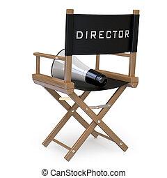 silla, director's, película