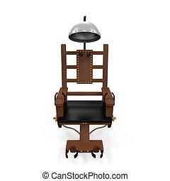 silla, eléctrico, aislado