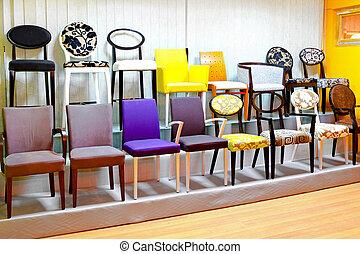 silla, exhibición