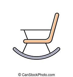 silla, mecedor