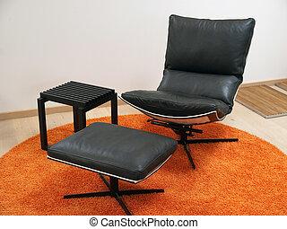 silla, moderno, diseño, recliner