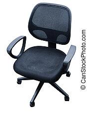 silla, nilón, oficina