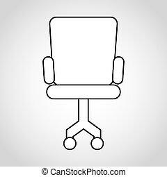 silla, oficina