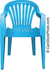 silla, plástico