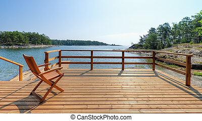 silla, terraza