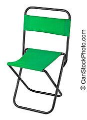 silla verde, plegadizo