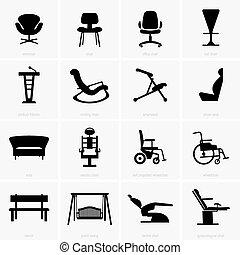 sillas, asientos