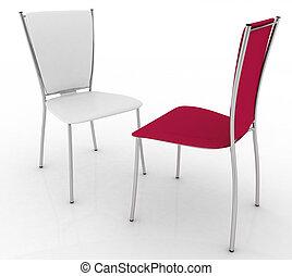 sillas, dos