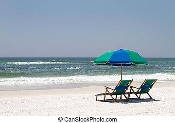 sillas, playa, walton, fortaleza