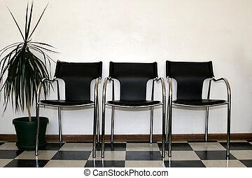sillas, sala de espera