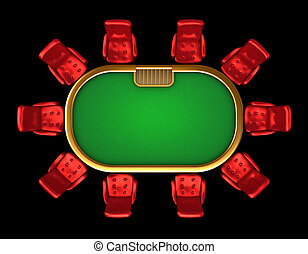 sillas, tabla, póker, punta la vista