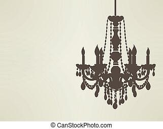 sillhouette, araña de luces