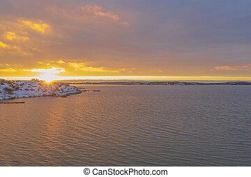 Sillvik in Gothenburg in sunset