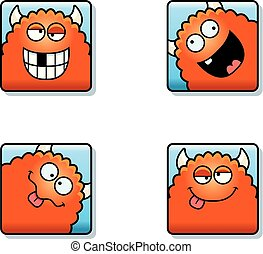 Silly Cartoon Monster Icons