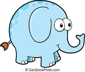 Silly Goofy Elephant Animal Vector