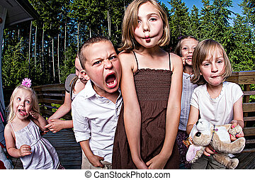 Silly Kids - a group of kids making silly faces