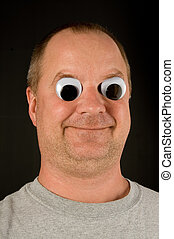 Silly Man - A silly man with wiggly googly eyes.