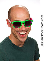 Silly Man With Colorful Sunglasses