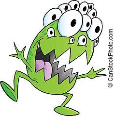 Silly Monster Alien Vector Art
