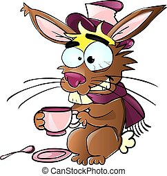 silly rabbit drinking tea
