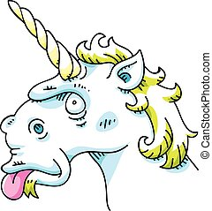 Silly Unicorn - A silly cartoon unicorn sticking out its...