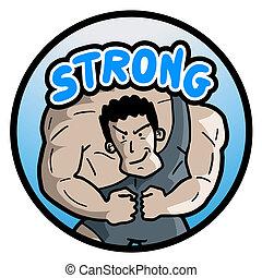 silny człowiek