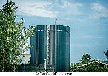 Big silo in nature inviroment