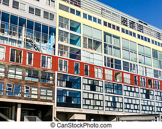 Silodam apartment building in Amsterdam, Holland