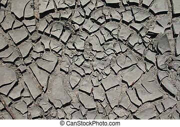 Silt/mud dry texture