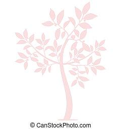 silueta, arte, árvore