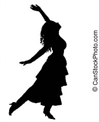 silueta, bailando