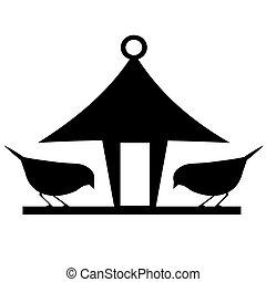 silueta, birdfeeder