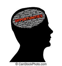 silueta, cabeza, -, oportunidades