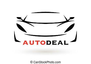 silueta, car, esportes, desenho, veículo, logotipo