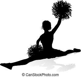 silueta, cheerleader