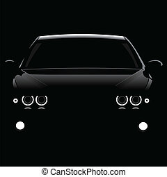 silueta, coches