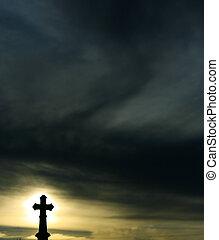 silueta, cruz