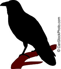 silueta, cuervo