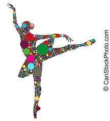 silueta, dançar, abstratos