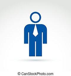 silueta, de, pessoa, ficar, frente, -, vetorial, ilustração, de