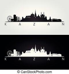 silueta del horizonte, señales, kazan